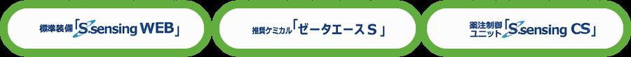 「S.sensing WEB」「ゼータエースS」「S.sensing CS」